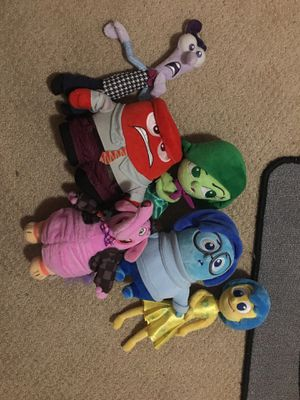 Inside Out Character plushies for Sale in Katy, TX