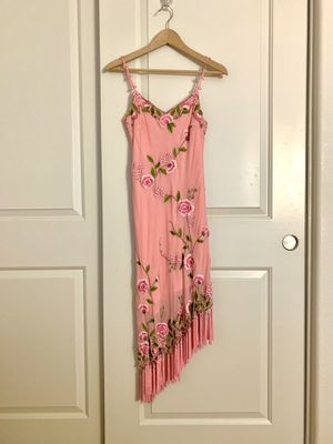Sue Wong, Pink, Vintage Embroidered Fringe Dress, size 6 for Sale in Phoenix, AZ