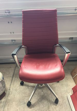Classic high back 100% leather and chrome chair for Sale in Chapel Hill, NC