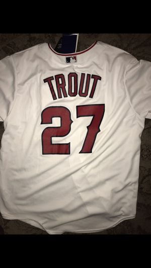 NEW MENS XL ANGELS MIKE TROUT JERSEY for Sale in Huntington Beach, CA