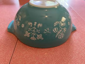 Pyrex Needlepoint Promo- Mid Century Turquoise Bowl for Sale in Pittsburgh, PA