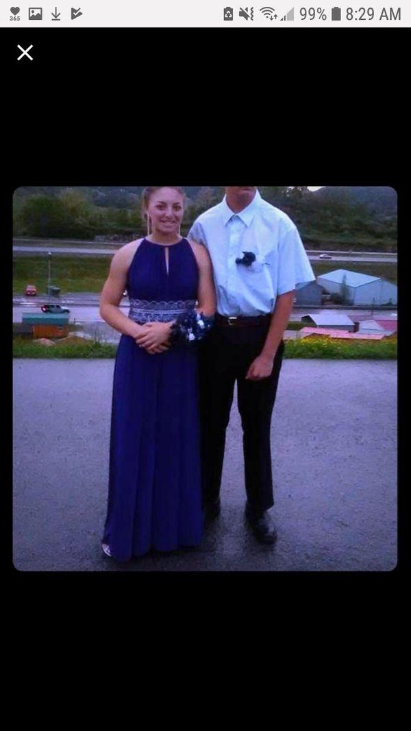 Royal blue size 8 prom dress