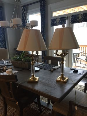 Pair lamps brass. Great condition for Sale in Atlanta, GA