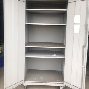 Large Metal Storage Cabinet On Wheels for Sale in Chino, CA