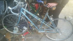 Peugeot Mixte ATAX Ladies 10 speed bicycle with core103 dual tubular frame metallic light blue for Sale in Dallas, TX