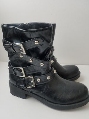 G by Guess Womens Black Studded Motorcycle Boots Size 6.5 for Sale in Cleveland, OH