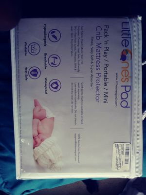 Little ones pad Pack n Play crib mattress protector for Sale in Rockville, MD