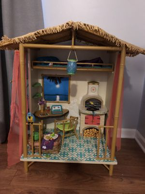 American Girl Doll of the Year Lea Clark's Hut and Fruit Stand for Sale in Orient, OH