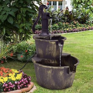NEW Waterfall Bucket Fountain 2-Tier with Pump Handle Outdoor Garden Yard or Porch 52375 for Sale in Costa Mesa, CA