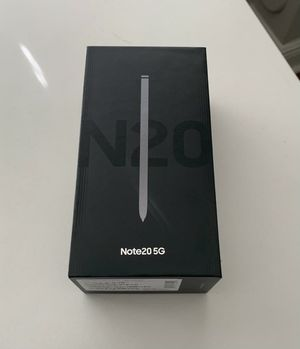 Samsung Galaxy Note 20 5G / New / S pen / USB Charger / 128GB / T-Mobile, Metro Pc, at&t for Sale in Pembroke Pines, FL