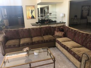 STUNNING CUSTOM REVERSIBLE CHENILLE COUCH for Sale in Rancho Mirage, CA