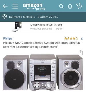 Philips FWR7 Compact Stereo System with 3 disk for Sale in Durham, NC