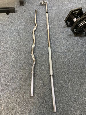 Brand new standard bar and curl bar! 2 for $150 for Sale in Wallingford, CT