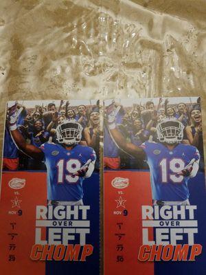 (2 tickets) UF vs vandy game for Sale in Gainesville, FL