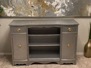 Gorgeous silver and gold buffet table entryway table for Sale in Gilbert, AZ