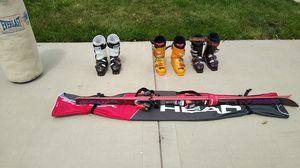 Salomon skis, with sf110, Salomon,and head brand ski boots. for Sale in Des Plaines, IL