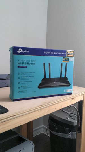 TP Link Wi-Fi 6 Dual Band Router (Like NEW) for Sale in Austin, TX