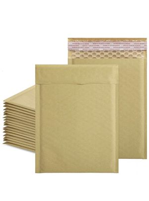 50pcs Kraft Bubble Mailers 6x10 Inch Padded Envelopes #0 Kraft Bubble Lined Poly Mailers Self Seal in Natural for Sale in Monterey Park, CA