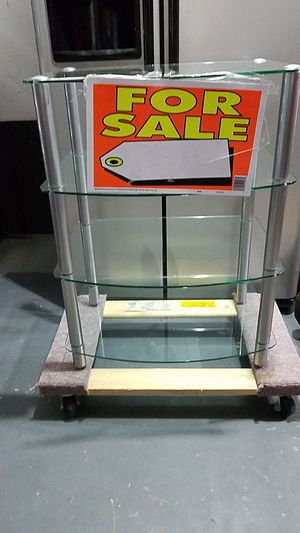 Tempered glass stereo stand for Sale in Elyria, OH