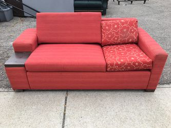 Sofa sleeper coach with side table for Sale in Grosse Pointe Park,  MI