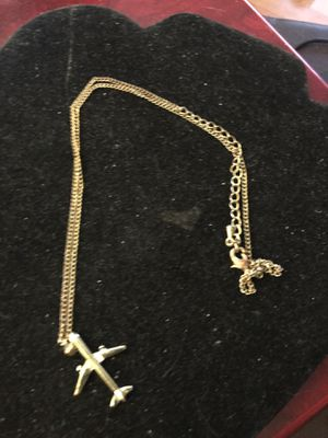 """Mid century 22"""" necklace with airplane pendant.. for Sale in Durham, NC"""