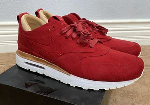 New Nike Air Max 1 Royal Size 12 RETAILPRICE $250 Red vachetta tan 90 suede Leather trainers 847671 661 shoes sneakers for Sale in Las Vegas, NV