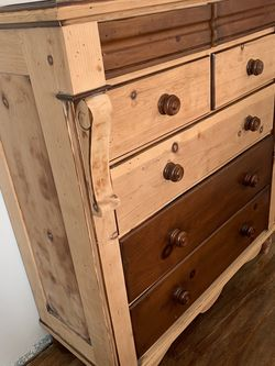 Natural Wood Tall 7 Drawer Dresser for Sale in Fullerton,  CA