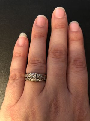 Diamond engagement ring and wedding band for Sale in Dunstable, MA