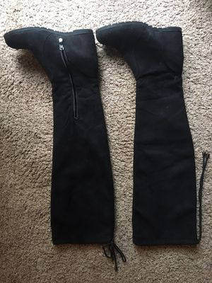 Black Wedge Thigh High boots for Sale in Vancouver, WA