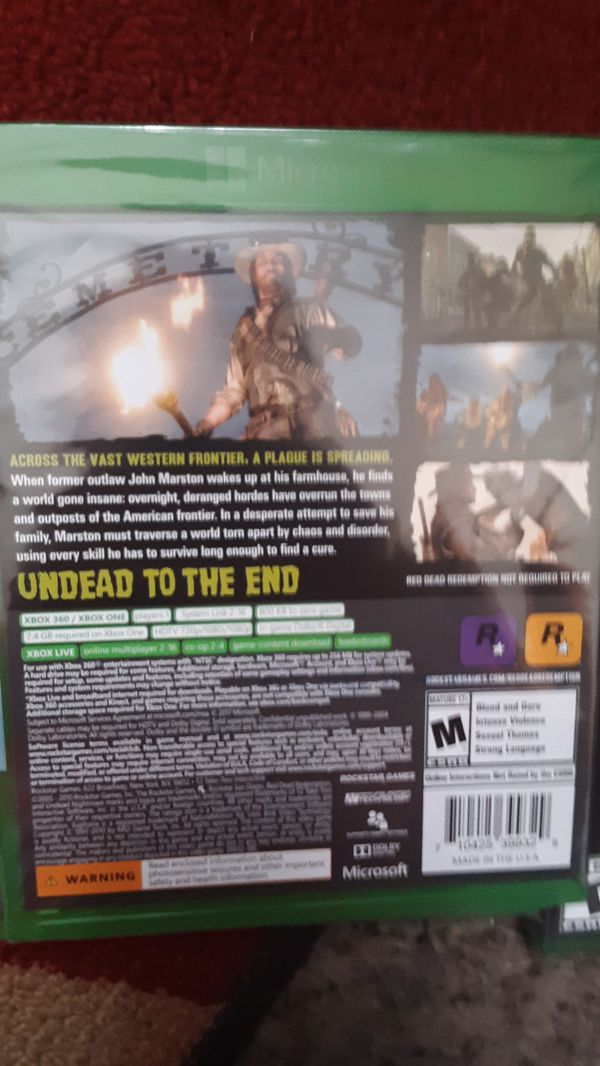 Red Dead Redemption Undead Nightmare Xbox One/Xbox 360