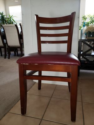 Restaurant ladder chairs with burgundy cushion for Sale in Elk Grove, CA