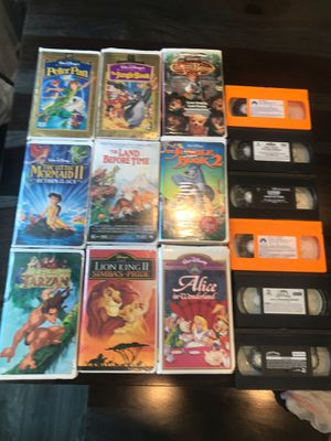 VHS Disney Movies and other for Sale in Amarillo, TX