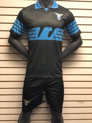 Soccer uniforms uniformes de futbol lazzio black for Sale in Los Angeles, CA