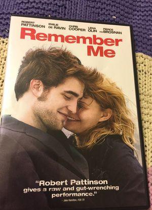 Remember Me DVD like new for Sale in Phoenix, AZ