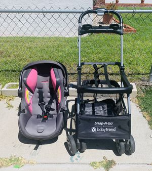 Safety 1st onBoard 35 Air 360 Infant Car Seat with Base and Snap and Go Stroller for Sale in San Diego, CA