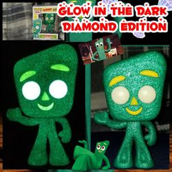 Funko Pop, Custom Glow in the Dark Diamond Edition Gumby for Sale in Adamstown,  MD