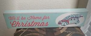 Wood turquoise christmas sign for Sale in Saginaw, TX