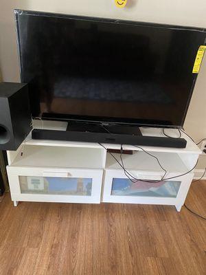 Samsung 46 inch tv +ikea table +Samsung hw-j355 sound bar cash app accepted for Sale in Atlanta, GA