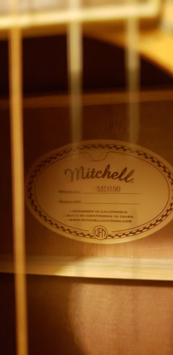 Mitchell Acoustic Guitar.