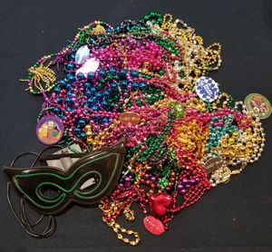 Assortment of Mardi Gras beads for Sale in Live Oak, TX