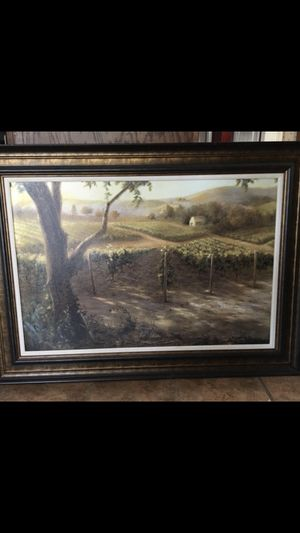 Framed willamette gold art print by Jan McLaughlin for Sale in Bellingham, MA
