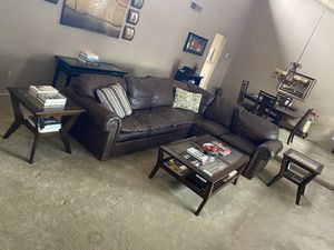 NICE Brown Leather Sectional Living Room Set for Sale in Scottsdale, AZ