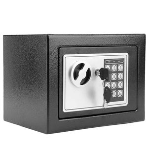 Digital Safe, Electronic Steel, Fireproof Lock Box with Keypad to Protect Money, Jewelry, Passports for Home, Business or Travel Black (Black) for Sale in Riverside, CA