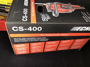 Echo cs 400. Chain saw for Sale in Dedham, MA