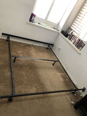 King size Metal bed frame and box mattress for Sale in El Paso, TX