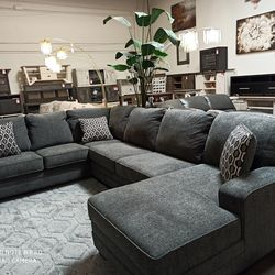 NEW, EXTRA LARGE, LAF CHAISE SECTIONAL, SLATE, SKU#TC72600 for Sale in Santa Ana,  CA