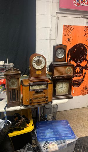 Antique radios and clocks Philco admiral united Lincoln Hicks lot of 6 for Sale in Santa Fe Springs, CA
