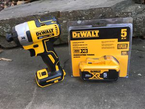 Dewalt XR drill and 5.0 battery for Sale in Arlington, VA