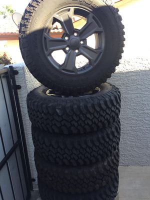 Tires & Wheels off Jeep Wrangler 225/75 R 17 Bolt Pattern 5 on 5.5 for Sale in Scottsdale, AZ