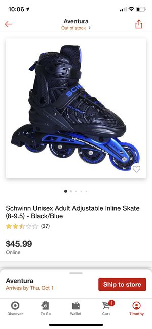 Never used brand new roller blades for sale for Sale in Oakland Park, FL